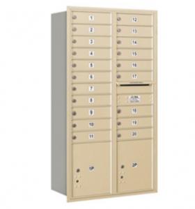 4C Recessed Mount Mailboxes