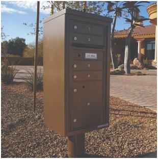 3408S-01 Commercial 4C Pedestal Mailboxes – 1 Tenant Door and 1 Parcel