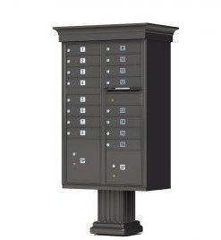 16 Door Vogue Decorative Cluster Mailbox By Florence U2013 Bronze