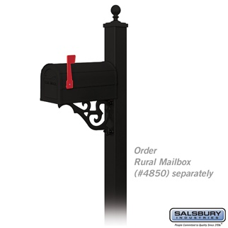 Decorative Mailbox Post Victorian In Ground Mounted 4845blk F 3 2