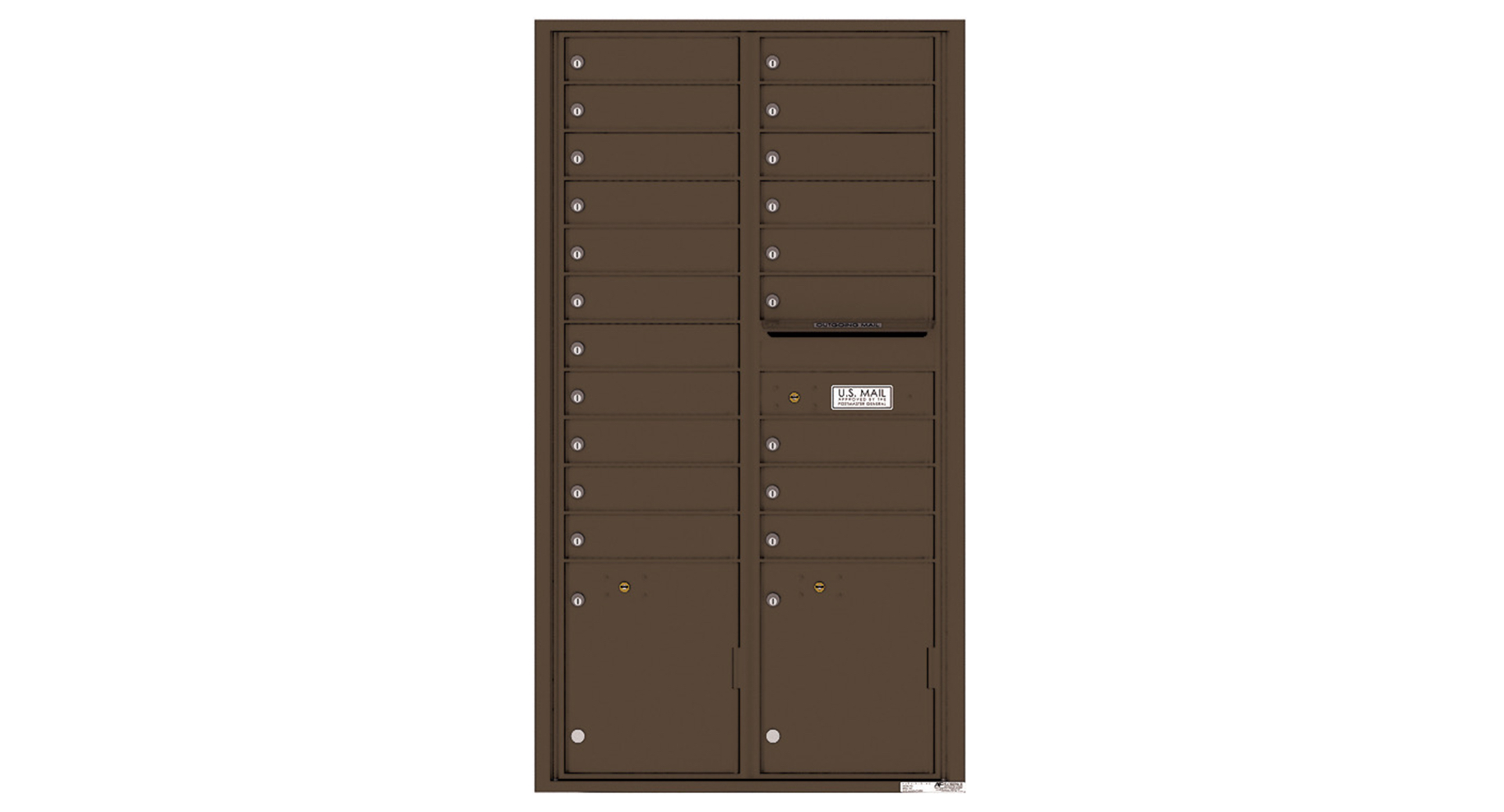 4C Recessed Mount and Surface Mount Mailboxes
