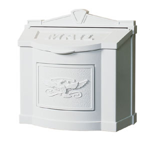 Gaines Wall Mount Mailbox WhiteWM-11-Eagle