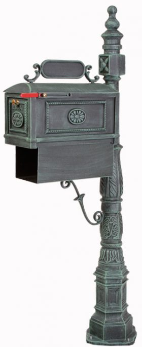 Better Box Mailbox and Post with Paper Box - Verde