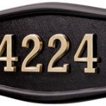 All Black<br>Brass Numbers