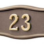 All Bronze<br>Brass Numbers