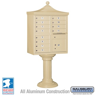12 Door Regency Cluster Box Unit - Sandstone